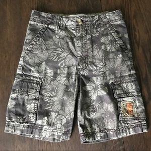 3/$15 Boys Tropical Print Cargo Shorts Size 7 EUC